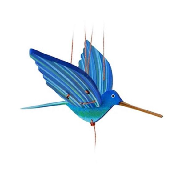 mobile bois artisanal colibri bleu