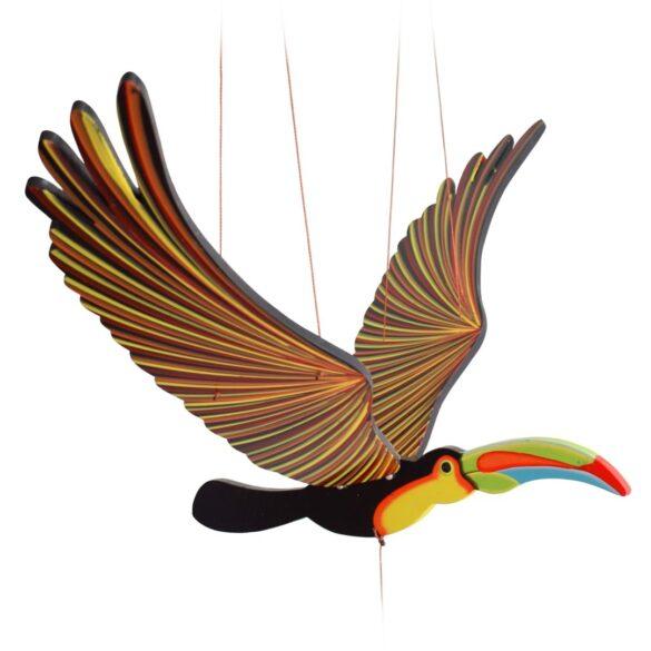 mobile bois artisanal toucan