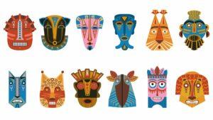 atelier créatif masques africains